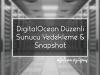 DigitalOcean Düzenli Sunucu Yedekleme & Snapshot