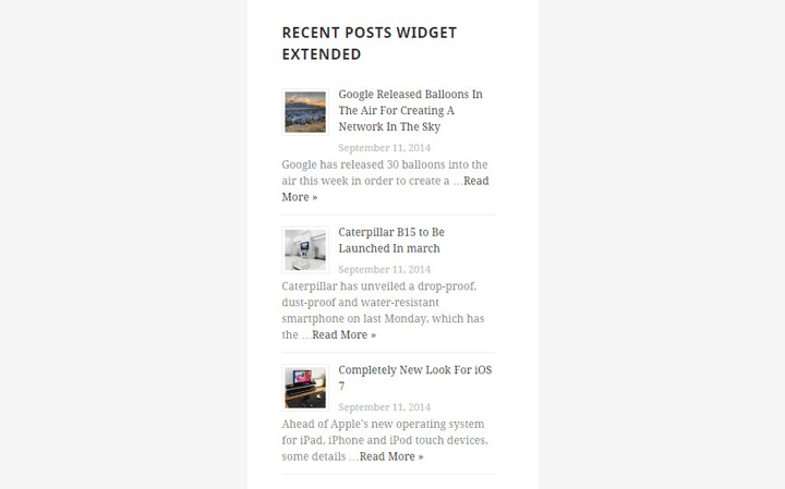 En İyi WordPress Eklentileri – Recent Posts Widget Extended