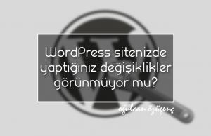 WordPress Sitenizde Yaptığınız Değişiklikler Görünmüyor Mu?